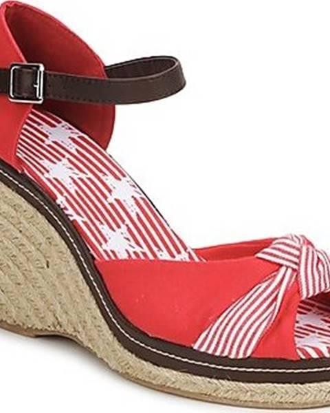 Červené sandály StylistClick
