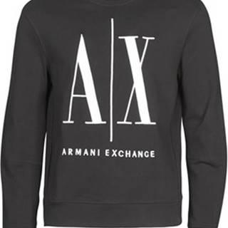 Armani Exchange Mikiny HELIX Černá