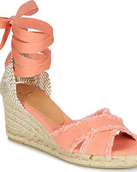 Oranžové sandály Castaner