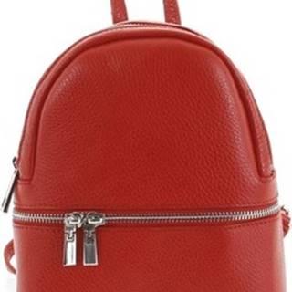 Italy Batohy Dámský kožený batůžek červený - Rocme Červená