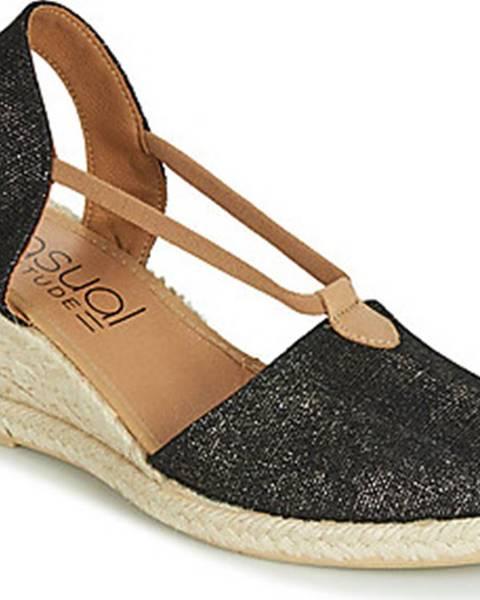 Černé sandály Casual Attitude
