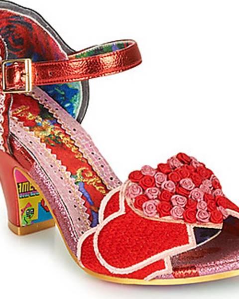 Červené sandály Irregular Choice