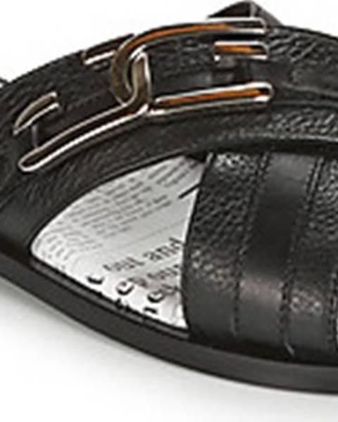 Černé sandály John Galliano