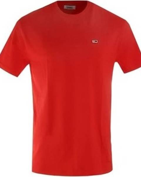 Červené tričko tommy hilfiger