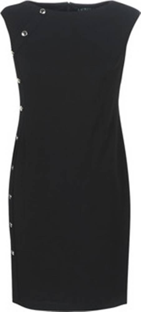 lauren ralph lauren Lauren Ralph Lauren Krátké šaty BUTTON-TRIM CREPE DRESS Černá