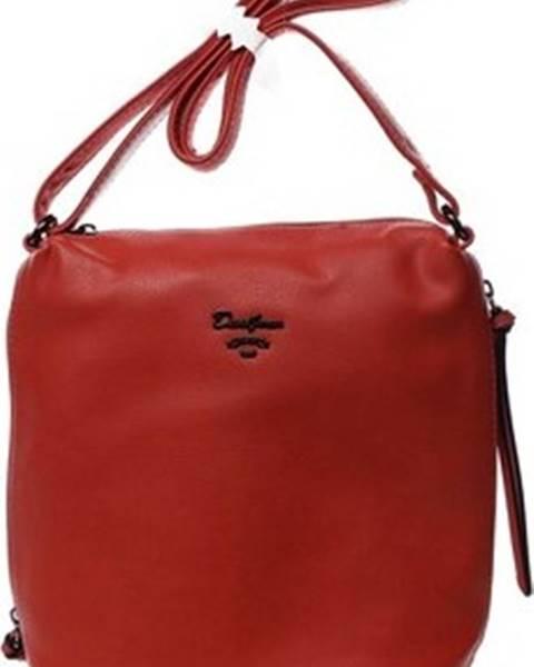Červená kabelka David Jones