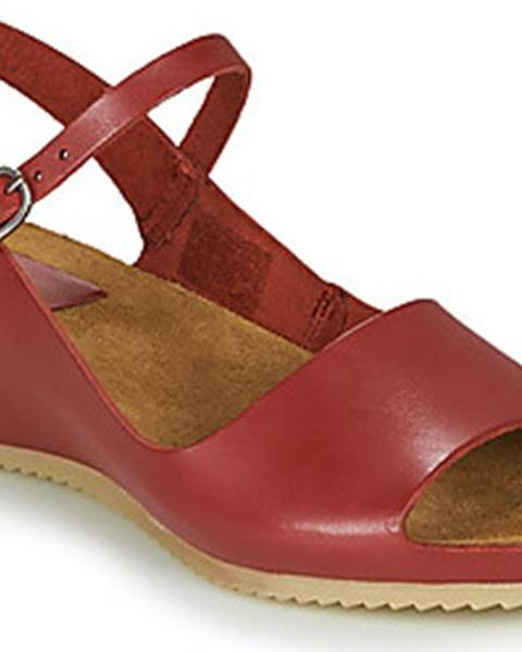 Červené sandály Kickers