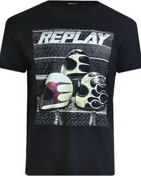 Černé tričko Replay