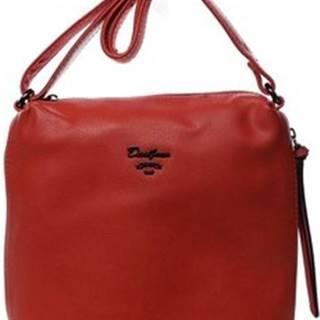 David Jones Malé kabelky Dámská crossbody kabelka červená - Haley Červená