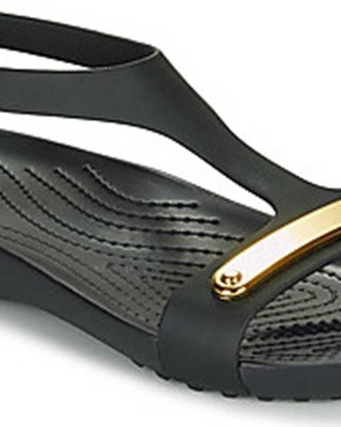 Černé sandály crocs