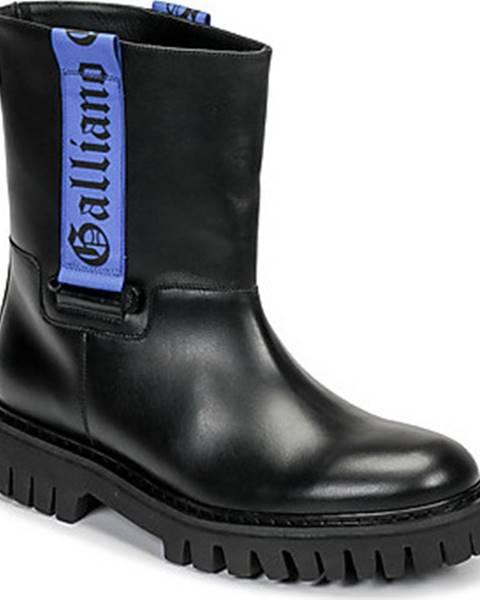 Černé boty John Galliano