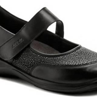 Axel Baleríny AXCW062 černé dámské polobotky boty šíře H Černá