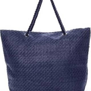 Delami Velké kabelky / Nákupní tašky Luxusní plážová taška modrá - Straw Modrá