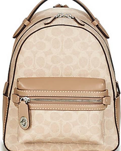 Béžový batoh Coach