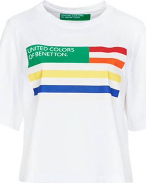 Bílý top Benetton