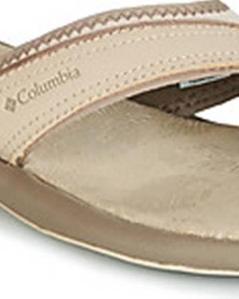 Béžové pantofle columbia
