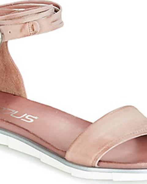 Růžové sandály Mjus