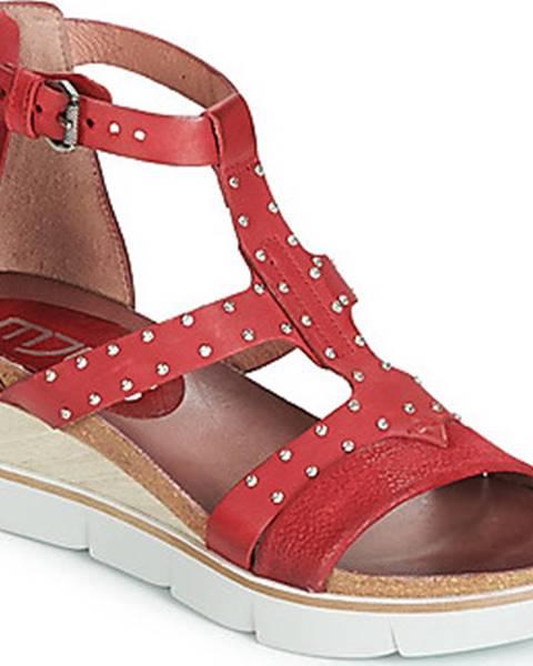 Červené sandály Mjus
