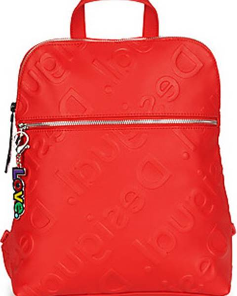Červený batoh desigual