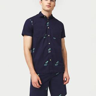 Palm All Over Košile Modrá