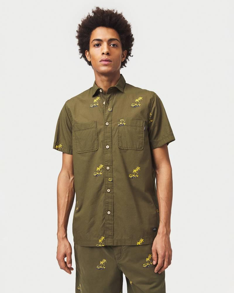 o'neill Palm All Over Košile Zelená
