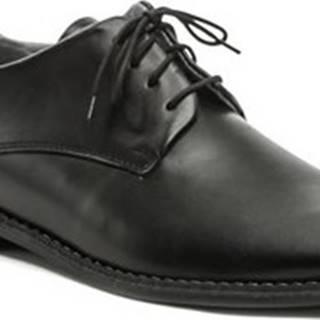 Koma Vycházková obuv 110302a černé pánské polobotky Černá