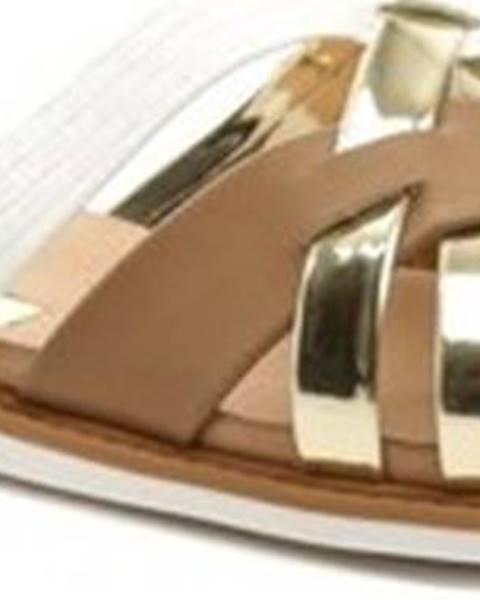 Béžové pantofle Arno