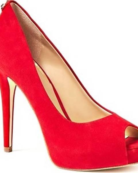 Červené boty Guess