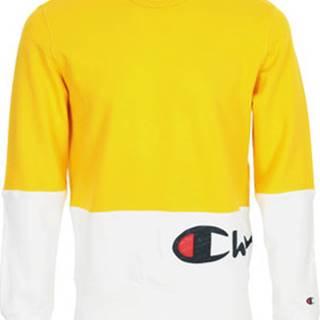 Champion Mikiny Sweatshirt Colour Block Žlutá
