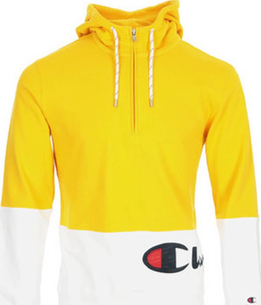 champion Champion Mikiny Logo Hoodie 1/2 Zip Žlutá