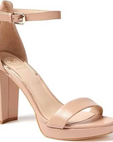 Béžové sandály Guess
