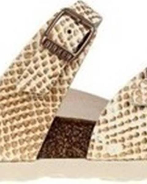 Béžové pantofle Birkenstock
