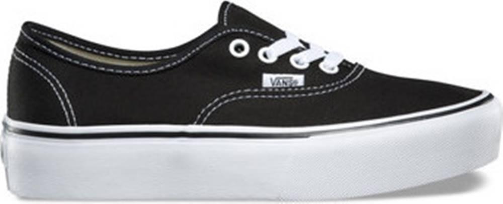 vans Vans Skejťácké boty Authentic platfor Černá