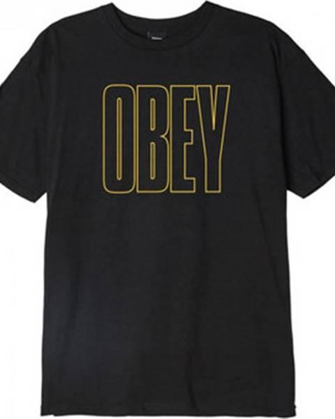 Černé tričko Obey