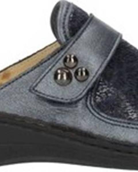 Modré pantofle Clia Walk