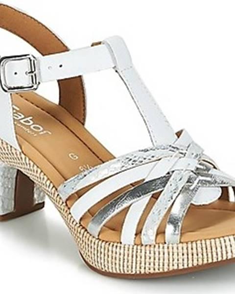 Bílé sandály Gabor