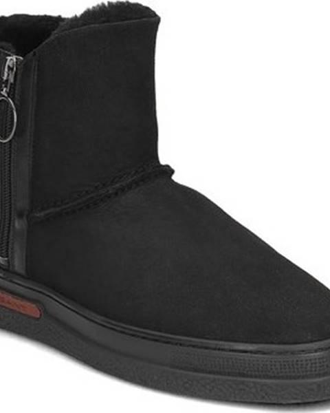 Černé kozačky gant