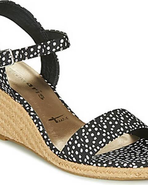 Černé sandály tamaris