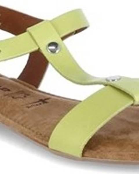 Zelené sandály tamaris