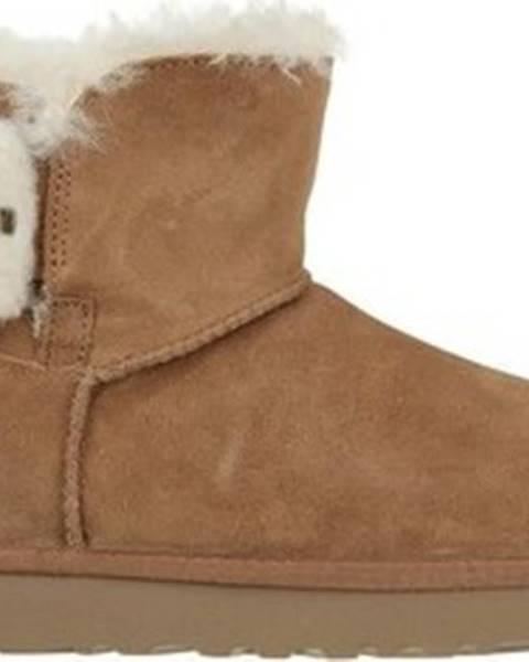 Hnědé boty ugg