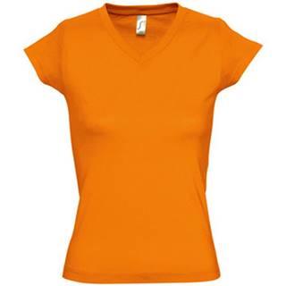 Sols Trička s krátkým rukávem MOON COLORS GIRL Oranžová