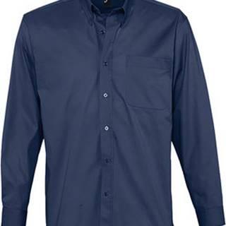 Sols Košile s dlouhymi rukáv BEL-AIR TWILL MEN Modrá
