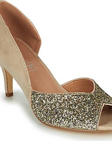 Béžové boty Vanessa Wu