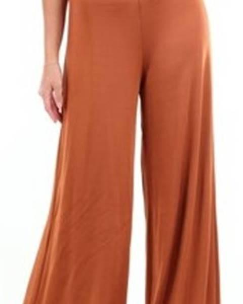 Hnědé kalhoty Le Piacentini