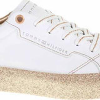 Tommy Hilfiger Tenisky Dámská obuv FW0FW04849 0K6 white-gold Bílá