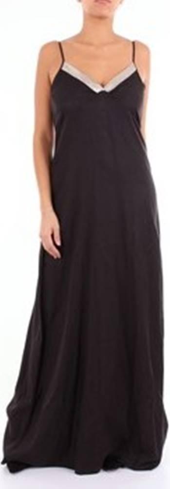 Momoni Momoni Společenské šaty MODR01308MO Černá