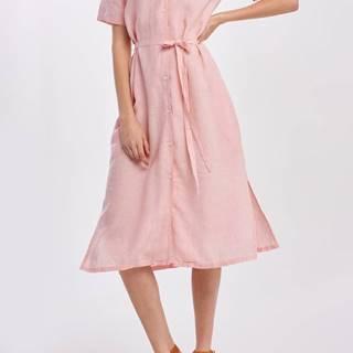 Šaty  D2. Linen Chambray Ss Shirt Dress