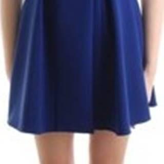 Elisabetta Franchi Krátké šaty AB13501E2 Modrá
