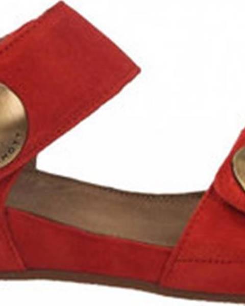 Červené sandály Ca Shott
