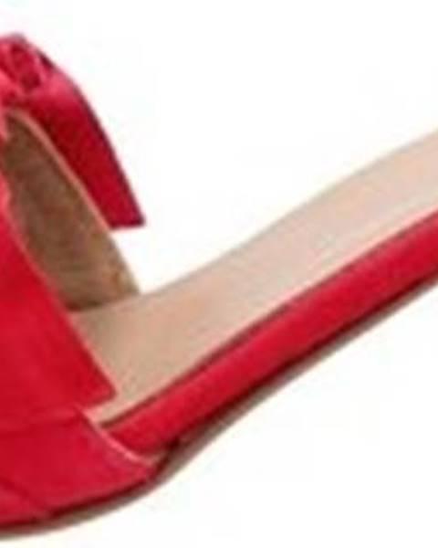 Červené pantofle Hl - Helen